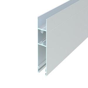 üvegfogó vízszintes profil, 20 mm, eloxált, 6,5 m