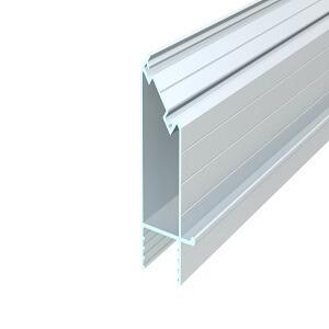 üvegfogó függőleges közbenső profil, 90°, natúr, 6,5 m