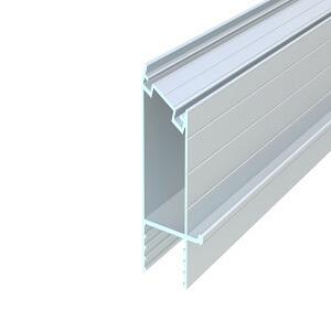 üvegfogó függőleges közbenső profil, 135°, natúr, 6,5 m