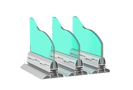 kilapozható üvegfal, alacsony vasalat
