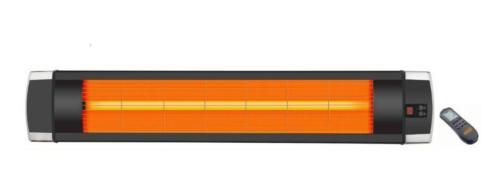 infra hősugárzó, volfrán, 2300 W, távirányítóval
