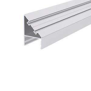 üvegfogó függőleges profil, 90 fokos, eloxált, 6 m