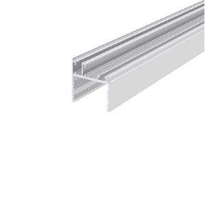 üvegfogó függőleges profil, eloxált, 6 m