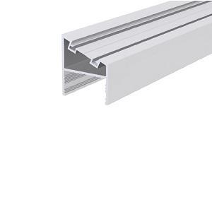 üvegfogó függőleges profil, 45 fokos, eloxált, 6 m