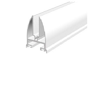 üvegfogó profil, 8 mm, fehér, 6 m