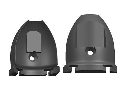 üvegfogó közbenső kupak, 8 mm, ovál